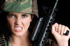 疯狂的海军陆战队员 免版税库存照片