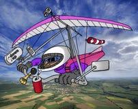 疯狂的滑翔机吊 免版税图库摄影