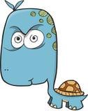 疯狂的疯狂的乌龟传染媒介 免版税库存照片