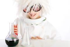 疯狂的科学家 库存图片