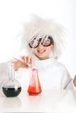 疯狂的科学家 免版税图库摄影