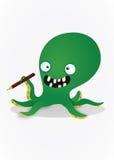 疯狂的章鱼 库存图片