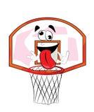 疯狂的篮球篮动画片 免版税库存图片