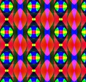 疯狂的红色几何 库存图片