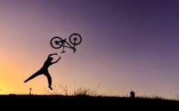 疯狂的自行车冒险 库存图片