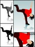 疯狂的舞蹈演员 免版税库存图片