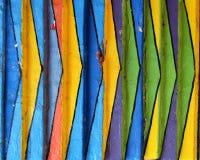 疯狂的色的议院的细节在Burano,威尼斯 图库摄影