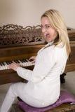 疯狂的钢琴 免版税库存图片