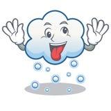 疯狂的雪云彩字符动画片 库存图片