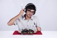 疯狂的音乐 免版税图库摄影
