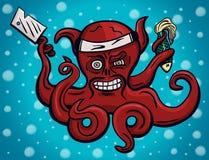 疯狂的首要章鱼 免版税库存照片