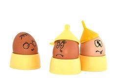 疯狂的鸡蛋 免版税库存图片