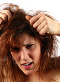 疯狂的头发 库存图片