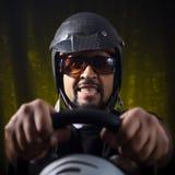疯狂的gamer 免版税图库摄影