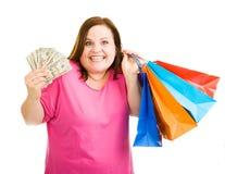 疯狂购物 免版税库存图片