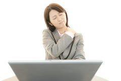 疲乏的妇女 免版税库存照片