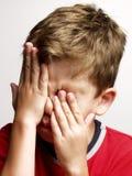 疲乏的孩子。 免版税库存照片