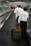 疲乏的旅行家 免版税库存图片