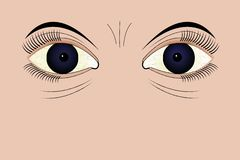 疲乏的眼睛 图库摄影