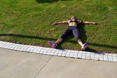 疲乏的赛跑者 库存照片