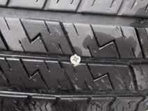 疲乏的轮胎 免版税图库摄影