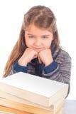 疲乏的逗人喜爱的小女孩 库存图片
