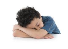 疲倦的孩子 免版税库存照片