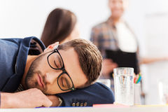 疲倦的生意人 库存图片