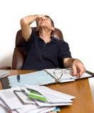 疲倦的票据支付 免版税库存照片