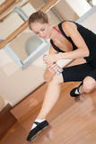 疲倦的芭蕾舞女演员瓶 库存图片
