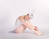 疲倦的跳芭蕾舞者 免版税图库摄影