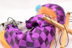 疲劳 小丑睡着 免版税库存照片
