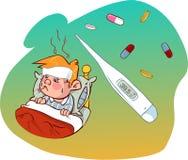 麻疹孩子 免版税库存照片