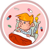 麻疹孩子 库存照片