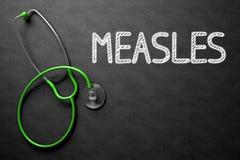 麻疹-在黑板的文本 3d例证 免版税库存照片