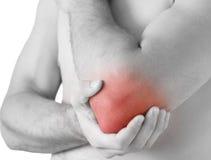 疼痛手肘 免版税库存照片