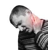 疼痛脖子 免版税库存图片