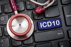 疾病和相关健康Prob的国际分类 库存图片
