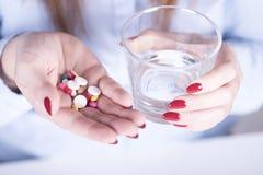 疾病的预防的药物 库存照片