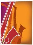 疾风爵士乐红色萨克斯管紫罗兰 免版税库存图片