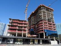 病区村庄的豪华公寓房Anaha建设中在Kakaako 免版税库存图片