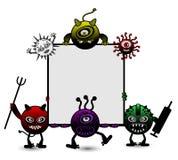 病毒动画片例证 图库摄影