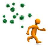 病毒危险等级 皇族释放例证