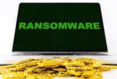 病毒和Malware攻击您的计算机 库存图片