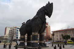 病毒木马-特洛伊,土耳其 免版税库存照片