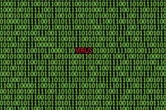 病毒用计算机编码 库存照片
