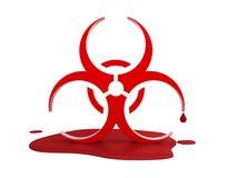 病毒的商标在血液的 库存照片
