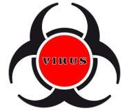 病毒警告 库存图片