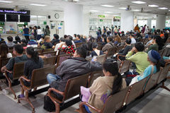 病的人在医院马哈拉杰Nakorn清迈 免版税库存图片