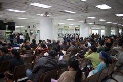 病的人在医院马哈拉杰Nakorn清迈 免版税图库摄影